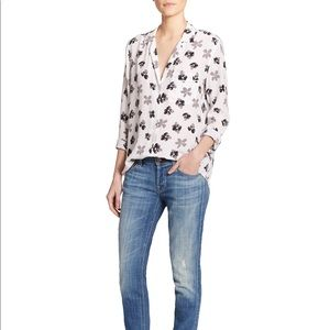 Equipment Keira 100% Silk Floral-print Shirt